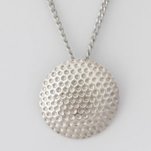 "Sterling Silver Golf Ball Pendant with 22""Belcher Chain"